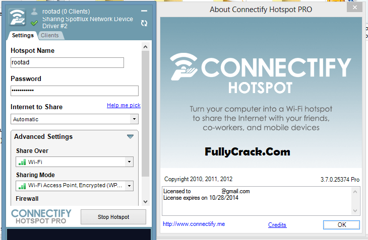 Connectify Hotspot Pro License Key