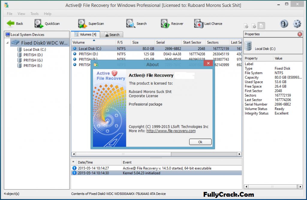 Active File Recovery Serial Key